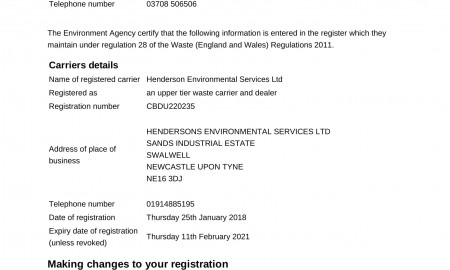 Waste Carrier Licence
